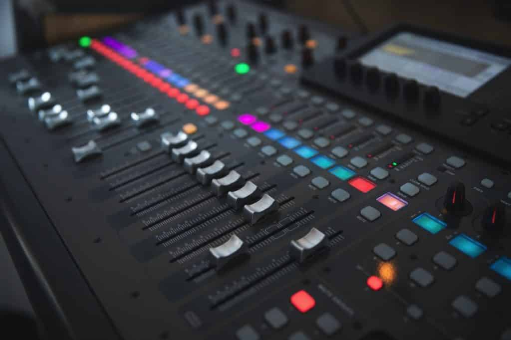 Image of Sound Mixing Board