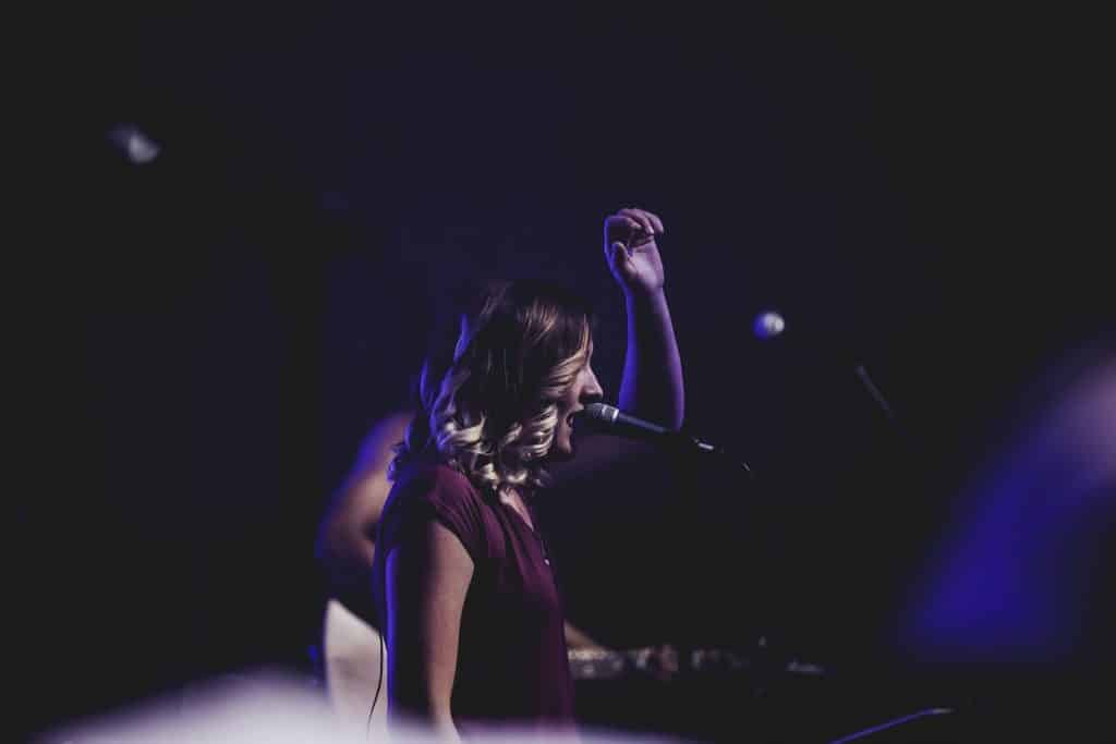 Woman Leading Worship